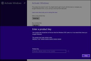 Enter a product key Windows 8.1 Problem