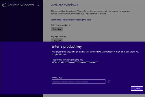 Windows Activation Code Product Key 8.1