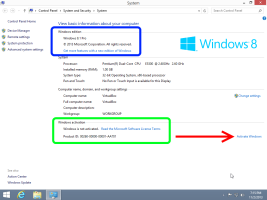 Windows 8.1 put key