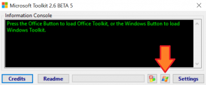 Select Windows activation Microsoft Toolkit
